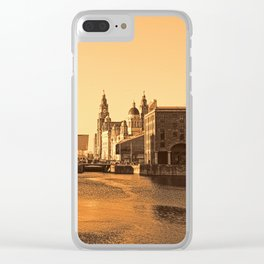 Albert Dock And the 3 Graces Clear iPhone Case