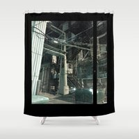 aperture Shower Curtains featuring Stairwell to by Adrian Fvtvrvm