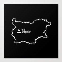 The Bulgarian Echelon (B/W) Canvas Print