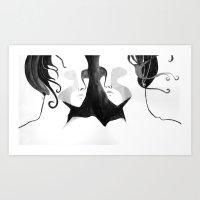 The beautiful twins Art Print