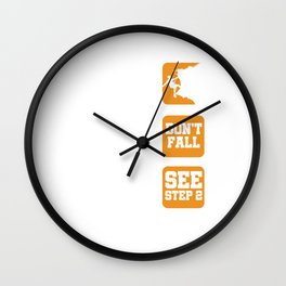 Mountaineer Mountain Hiking Outdoor Activity Adventurer Rock Climbing Steps Gifts Wall Clock