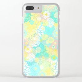 Floral firework Clear iPhone Case