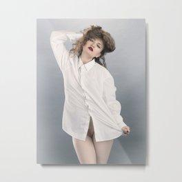 white shirt-1 Metal Print