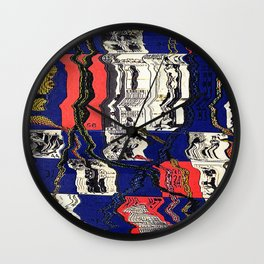 Snake & Ladders (melted) Wall Clock