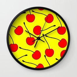 One Lonley Cherry  Wall Clock