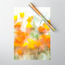 Sunrise Poppies Wrapping Paper