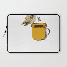 Coffe Owl Birdwatching Gift Birding Bird Laptop Sleeve
