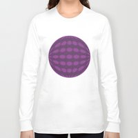 globe Long Sleeve T-shirts featuring Purple globe by Avril Harris