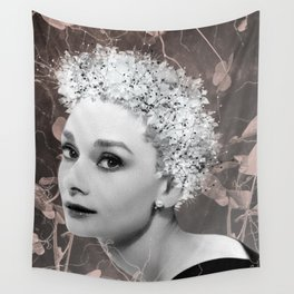 Audrey in White Wall Tapestry