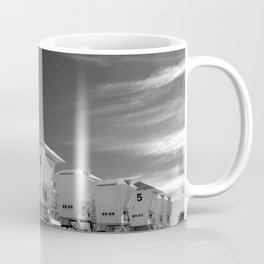 BEACH - California Beach Towers - Monochrome Coffee Mug