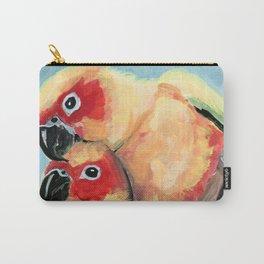 Peach Faced Lovebirds Carry-All Pouch