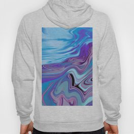 abstract abstrakt marbled marmor colorful blue purple Hoody