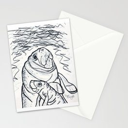 Magnificent Manatees Stationery Cards