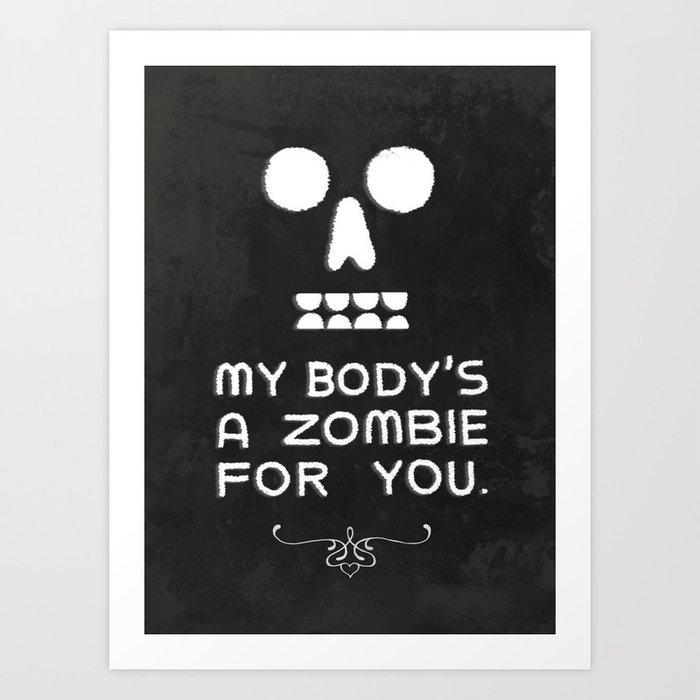 Zombie Love Art Print