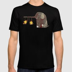 Elephant Swing Black LARGE Mens Fitted Tee