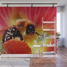 The Bee in the Flower Wall Mural