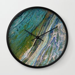 """The Flow"". Modern artwork by Inessa Laurel. Wall Clock"