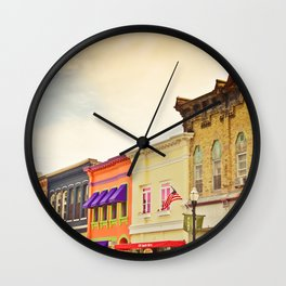 Small Town Colors Wall Clock