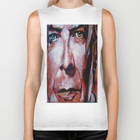 david bowie Biker Tanks featuring Bowie by Ray Stephenson