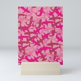 Pink Shark Camouflage Mini Art Print