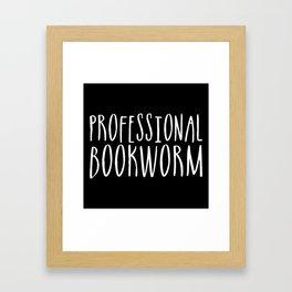 Professional bookworm - Inverted Framed Art Print