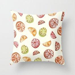 Summer Citrus Throw Pillow