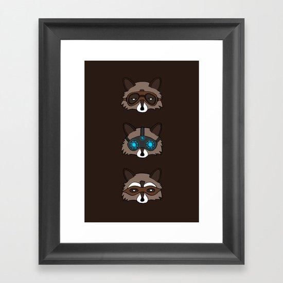Raccoons Framed Art Print