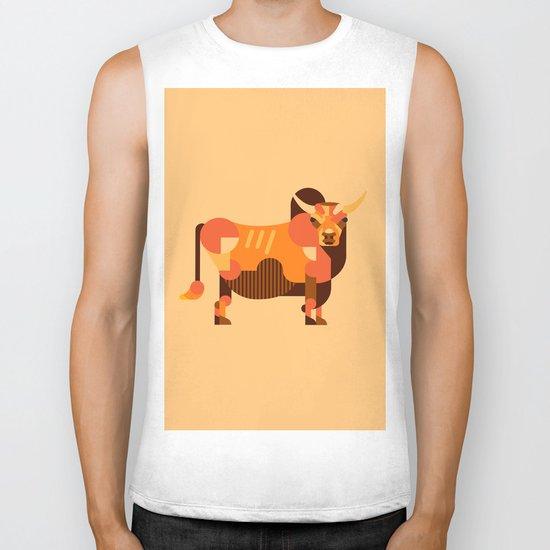 Bull Orange Biker Tank