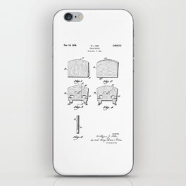 patent art Ake Violin Bridge 1948 iPhone Skin