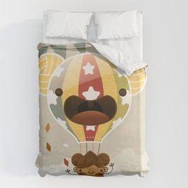 Chestnut Girl Balloon!!! Duvet Cover
