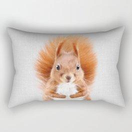 Squirrel 2 - Colorful Rectangular Pillow
