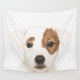Jack Russell Puppy Wall Tapestry