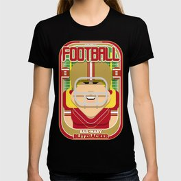 American Football Red and Gold - Hail-Mary Blitzsacker - Hazel version T-shirt