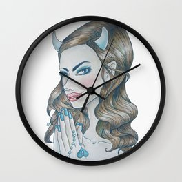 Blue Devil (Rule 4) Wall Clock
