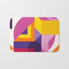 Abstract modern geometric background. Composition 14 Bath Mat