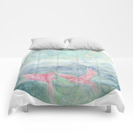 In the Pyrenees, arylic birds Comforters