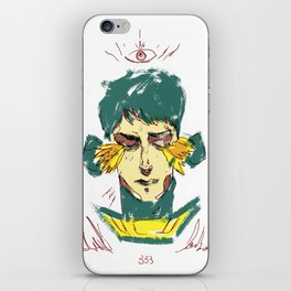 Fire from my closed eyes iPhone Skin