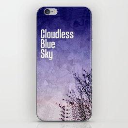 Cloudless Blue Sky iPhone Skin