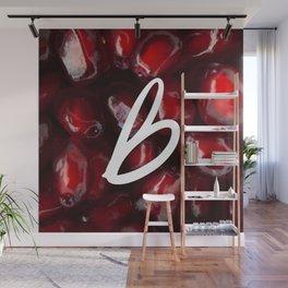 Recettes du Bonheur - pomegranate Wall Mural
