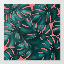 monstera leaves 2 Canvas Print