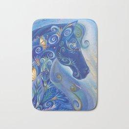 Blue Horse Bath Mat