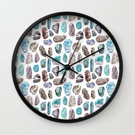 Ocean Sea Stones Pattern Wall Clock