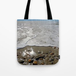 Tide Going Out at Horseneck Beach ~ Westport, MA Tote Bag