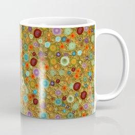 Playful Watercolor dots pattern - Gold Coffee Mug