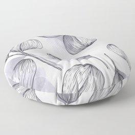 Round Leaves 5 Floor Pillow