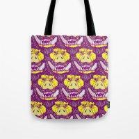 ed sheeran Tote Bags featuring Boar-ed by headnhalf
