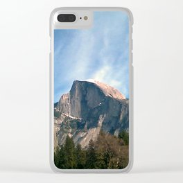 Picturesque Mountain Clear iPhone Case