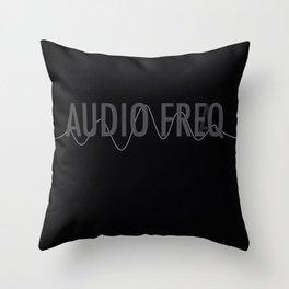 Audio Freq Throw Pillow