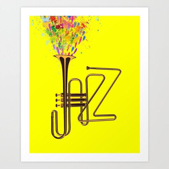 Creative Jazz Art Print