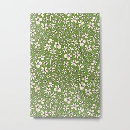 garland flowers green Metal Print